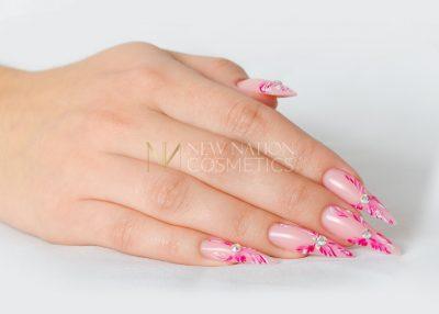 pink Strass Blumen